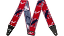 Fender WeighLess Monogram Guitar Strap Red, White, and Blue 2 in.