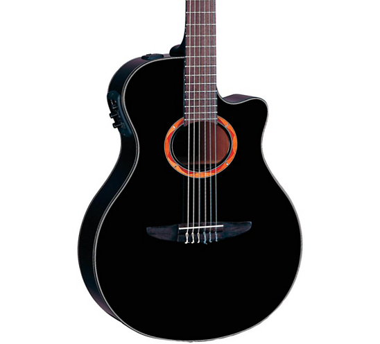 Yamaha NTX700BL Acoustic Guitar, Black