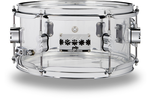 PDP by DW Chad Smith Signature Acrylic Snare Drum 12 x 6 in. Clear