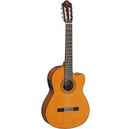 Yamaha CGX122MCC Solid Cedar Top Classical Acoustic-Electric