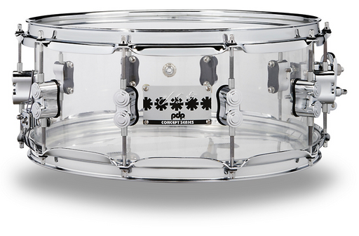 PDP by DW Chad Smith Signature Acrylic Snare Drum 14 x 6 in. Clear