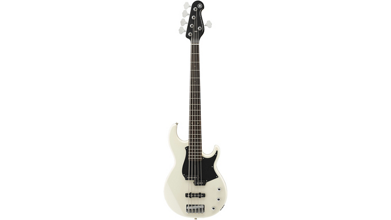 Yamaha BB235 5-String Electric Bass Vintage White Black Pearl Pickguard