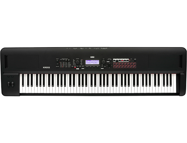 Korg Kross 2 88-Key Performance Synth/Workstation with Added PCM and Sounds in Matte Black