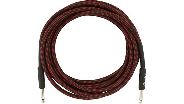 Fender Professional Series Straight to Straight Instrument Cable 15 ft. Red Tweed