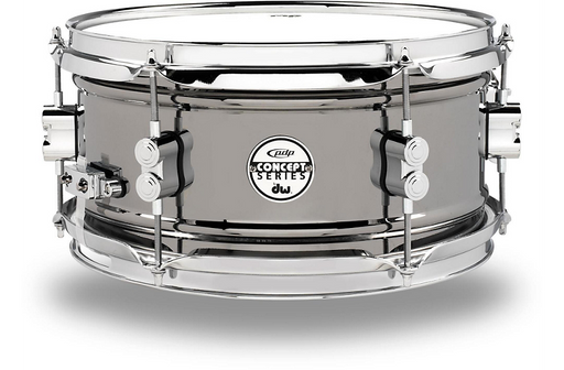 "PDP 6"" x 12"" CONCEPT BLACK NICKEL OVER STEEL SNARE DRUM"