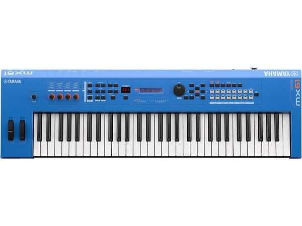 Yamaha MX61 61 Key Music Production Synthesizer Electric Blue