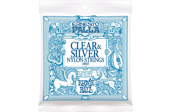 Ernie Ball 2403 Ernesto Palla Nylon Clear and Silver Classical Acoustic Guitar Strings