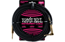 Ernie Ball 10' Straight to Angle Braided Instrument Cable Black/Black