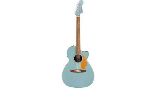 Fender California Newporter Player Acoustic-Electric Guitar Ice Blue Satin