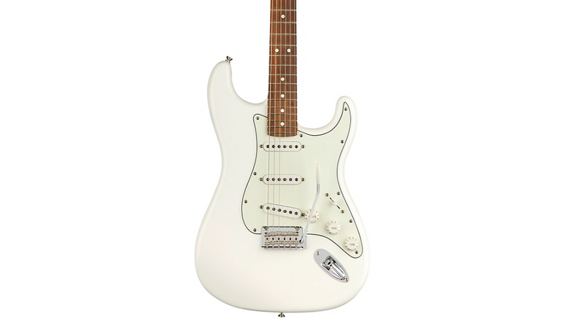 Fender Player Stratocaster Pau Ferro Fingerboard Electric Guitar Polar White