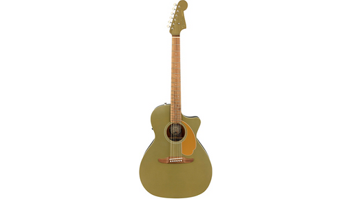 Fender California Newporter Player Acoustic-Electric Guitar Olive Satin