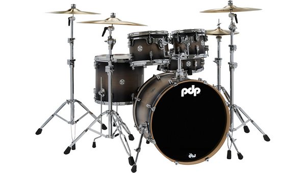 PDP by DW Concept Maple 5-Piece Shell Pack Satin Charcoal Burst