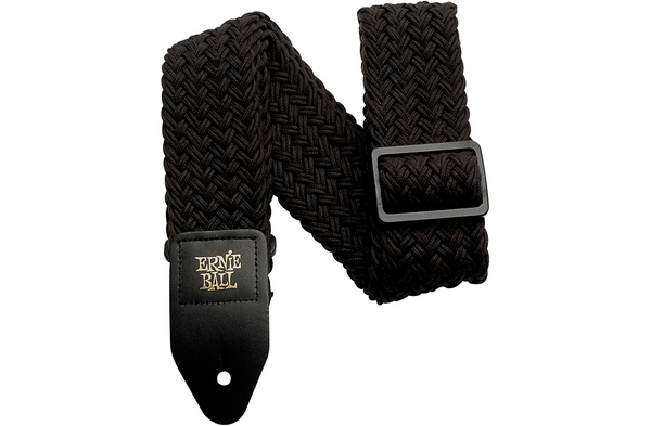 Ernie Ball Polyspun Guitar Strap Raven Black 2 in.