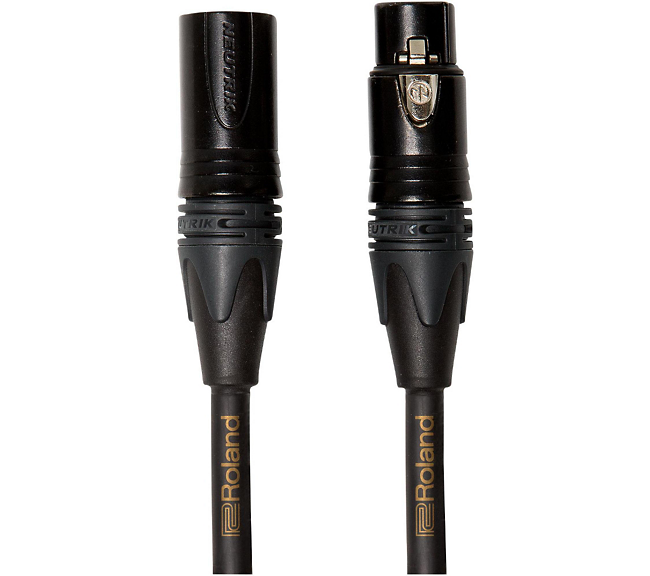 Roland Gold Series XLR Microphone Cable 10 ft. Black