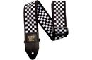 Ernie Ball Jacquard Guitar Strap Black and White Checkered