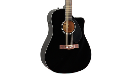 Fender CD-60SCE Dreadnought Acoustic-Electric Guitar Black