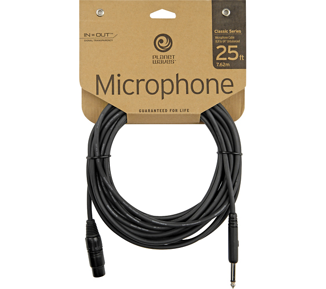 "D'Addario Planet Waves Classic Series XLR Female to 1/4"" Mic Cable 25 ft."