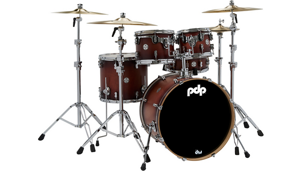 PDP by DW Concept Maple 5-Piece Shell Pack Satin Tobacco Burst