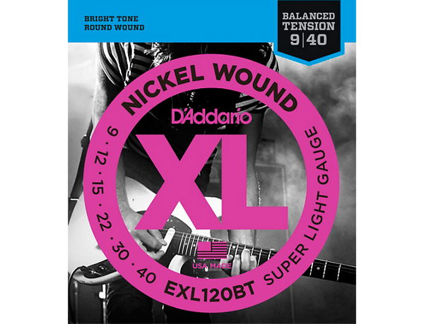 D'Addario EXL120BT Balanced Tension X-Lite Electric Guitar Strings Single-Pack