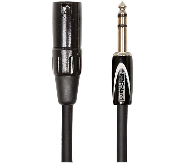 "Roland Black Series 1/4"" TRS-XLR(Male) Interconnect Cable 15 ft. Black"