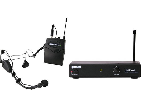 Gemini UHF-01HL Wireless Headset/Lavalier Combo System F4
