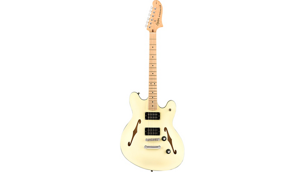 Squier Affinity Series Starcaster Maple Fingerboard Electric Guitar Olympic White