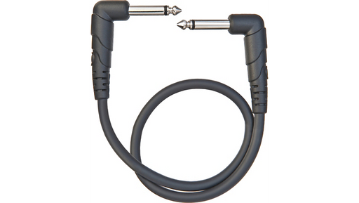 "D'Addario Planet Waves Classic Series 1/4"" Right Angle Patch Cable 1 ft."