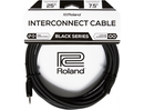 Roland Black Series 3.5mm TRS Male to Female Headphone Extension Cable 25 ft. Black