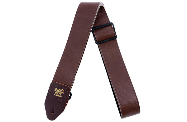 "Ernie Ball 2"" Tri Glide Italian Leather Strap Brown 2 in."