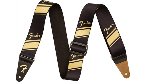 Fender Competition Stripe Guitar Strap Gold 2 in.