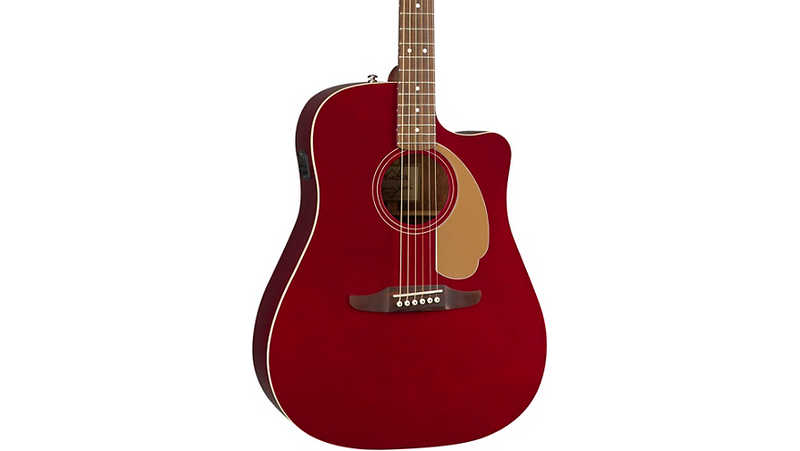 Fender California Redondo Player Acoustic-Electric Guitar Candy Apple Red