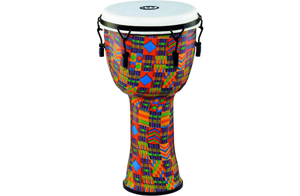 Meinl Mechanically Tuned Djembe with Synthetic Shell and Head 12 in. Kenyan Quilt