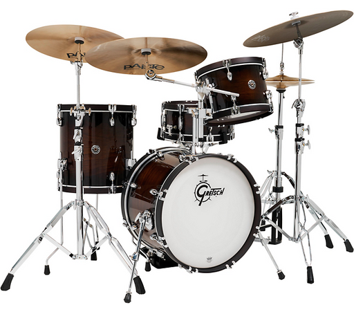 Gretsch Drums Catalina Special Edition Walnut/Maple 4-Piece Shell Pack with Wood Hoops and 18 in. Bass Drum Walnut Burst