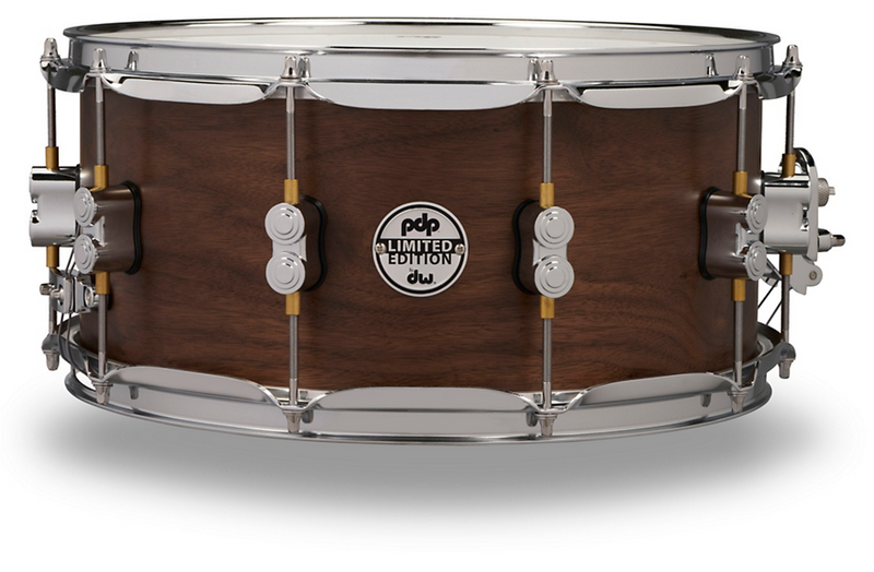 PDP by DW Concept Series Limited Edition 20-Ply Hybrid Walnut Maple Snare Drum 14 x 6.5 in. Satin Walnut