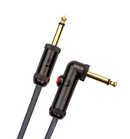 "Daddario Circuit Breaker 10' 1/4"" TS Male 1/4"" Angled TS Male Guitar Cable With Latching Mute"