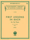 First Lessons In Bach Book 1