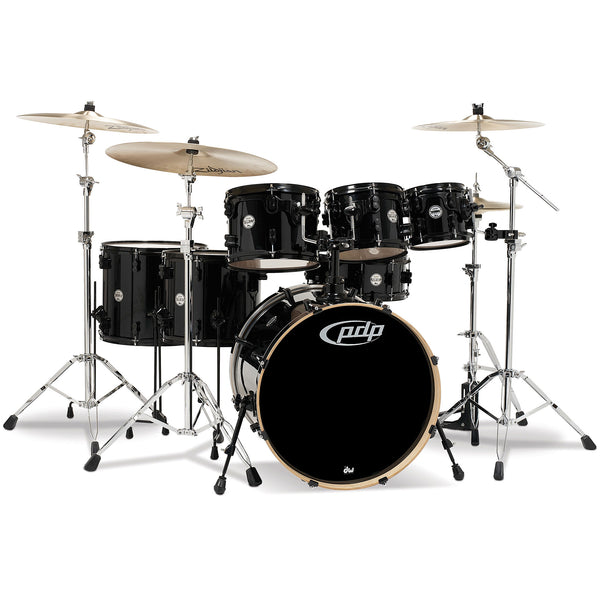 PDP by DW Concept Maple by DW 7-Piece Shell Pack Pearlescent Black