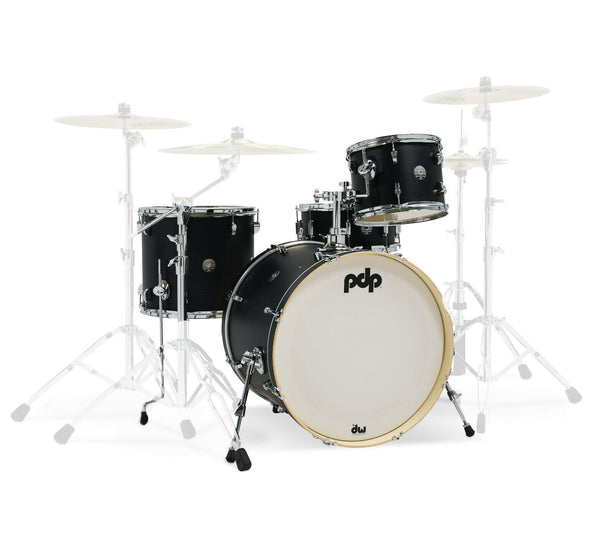 PDP by DW Spectrum Series 4-Piece Shell Pack with 22 in. Bass Drum Ebony Stain
