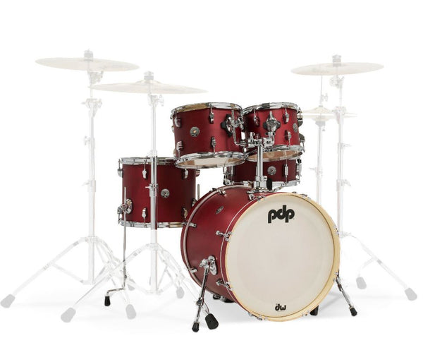 PDP by DW Spectrum Series 5-Piece Shell Pack with 22 in. Bass Drum Cherry Stain