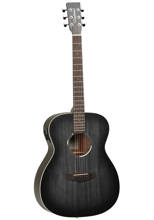 Tanglewood Blackbird Folk Acoustic Guitar Premium Plus Electronics - Smokstack Black Satin