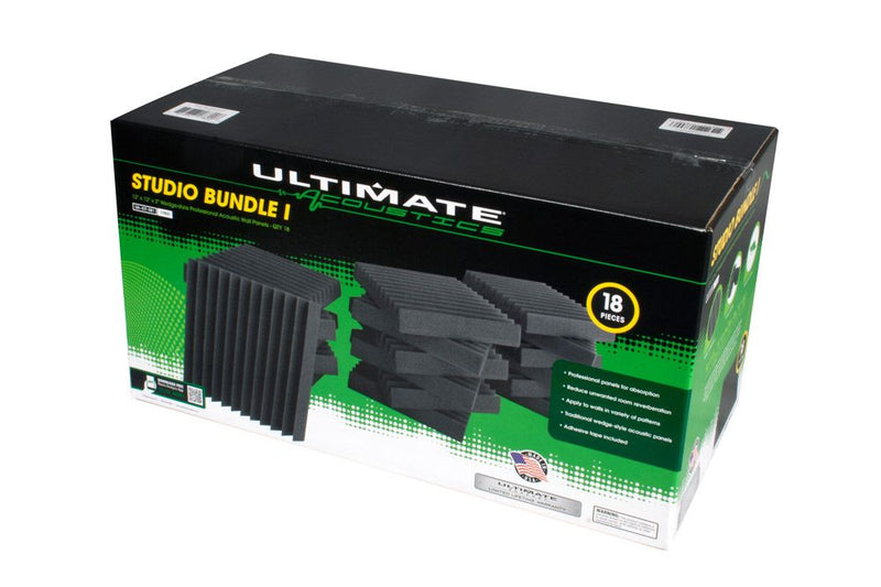 "Ultimate Acoustics UA-KIT-SB1 Studio Bundle I 18pc 12""x 12"" x 2"""