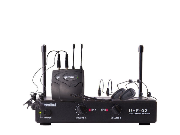 Gemini UHF-02HL: Wireless Microphone System