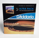 D'Addario EZ910 / EJ26 Custom Light Tension Ultra Pack Acoustic Guitar String Set