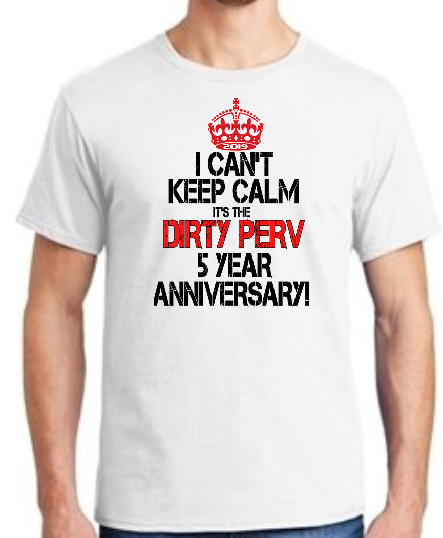 MENS TSHIRT- 5 YEAR ANNIVERSARY DP