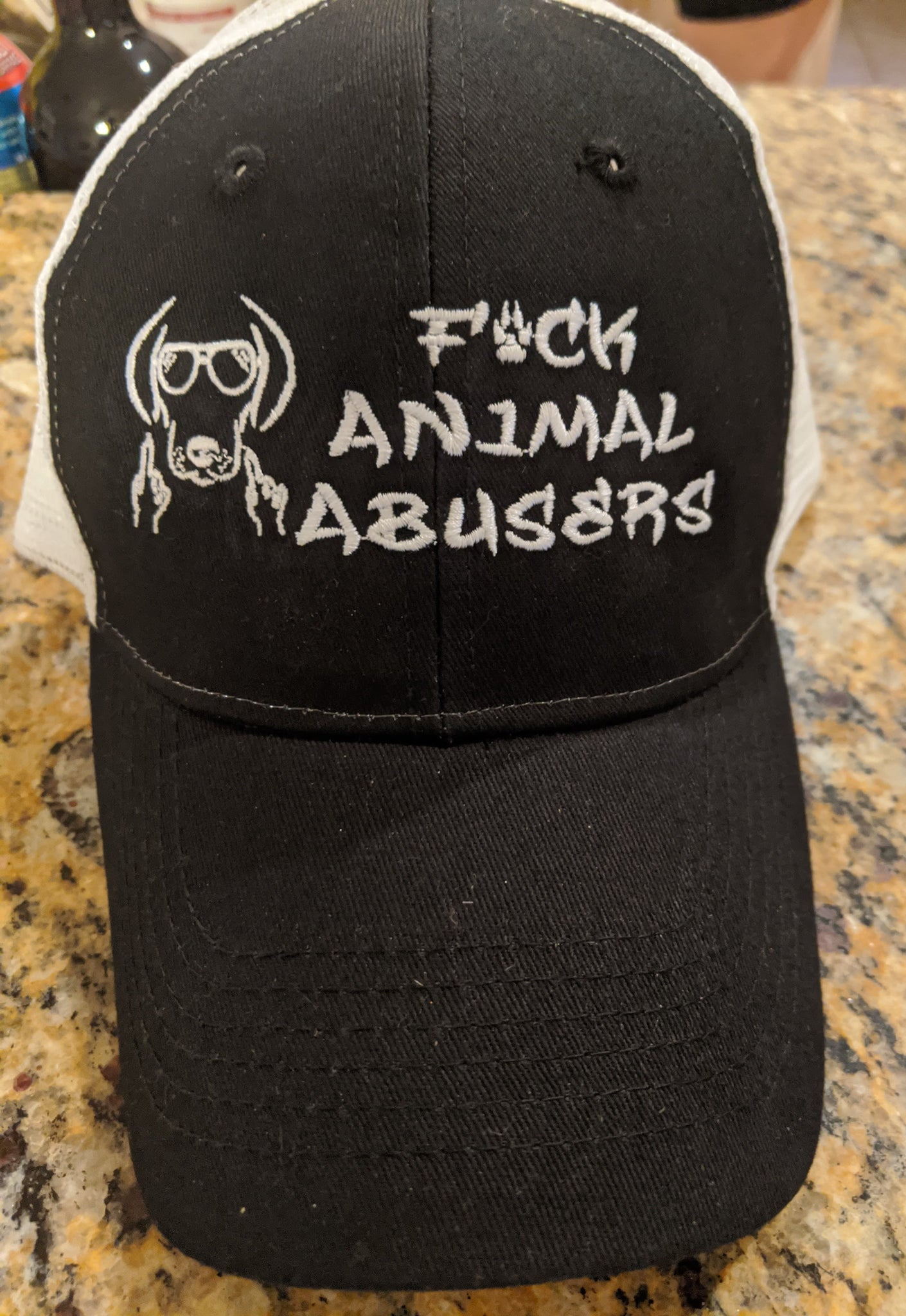 F*CK ANIMAL ABUSERS HAT