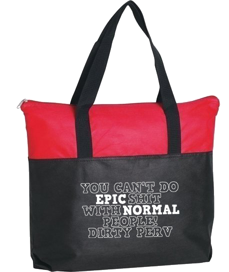NEW - Zippered Tote Bag