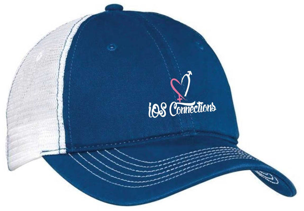 IOS HAT NEW Blue & White ADJUSTABLE