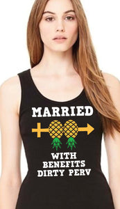 WOMENS TANK - MARRIED WITH BENEFITs