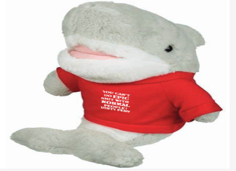 Shark Mascot Stuffed Animal