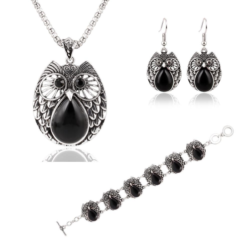 Summer Style Vintage Owl Jewelry Set